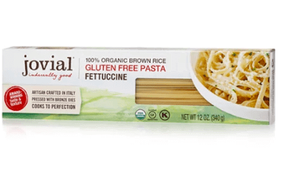 a pack of jovial gluten-free brown rice fettuccine