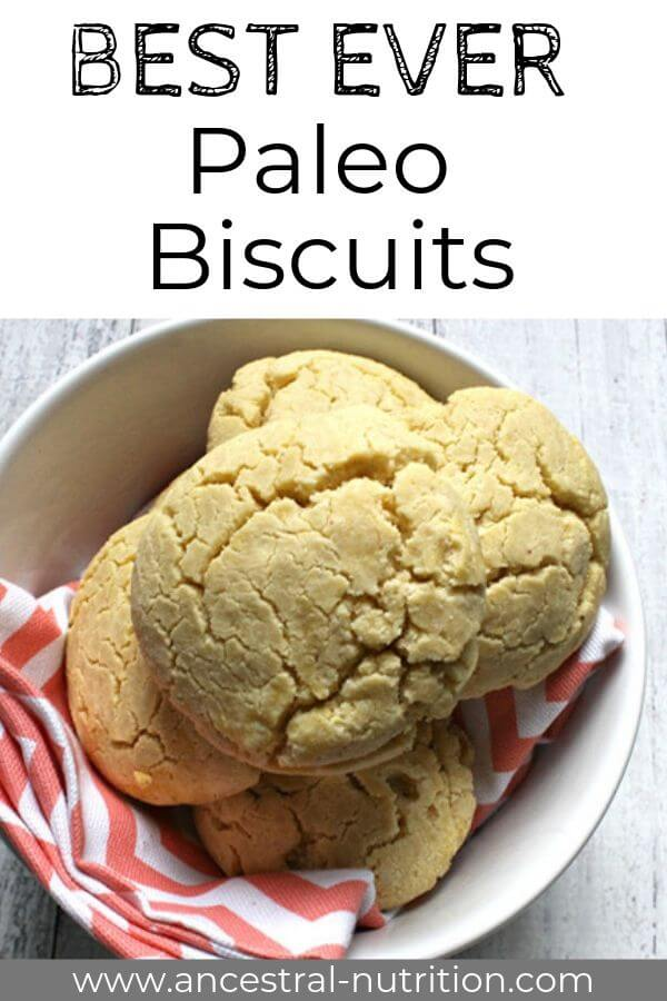 Paleo Biscuits - perfect gluten-free biscuits for breakfast, as a dinner roll or as a quick snack with butter and jam or turkey and veggies! #biscuits #paleo #dinner #glutenfree