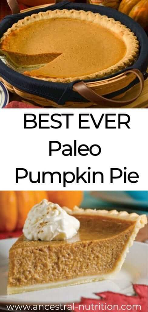 Paleo Pumpkin Pie | Want a healthy pumpkin pie recipe this Thanksgiving? Try this paleo, primal, gluten-free, grain-free treat! The perfect guilt-free dessert for the holidays and so easy to make ! #paleo, #Thanksgiving, #pie, #glutenfree, #grainfree