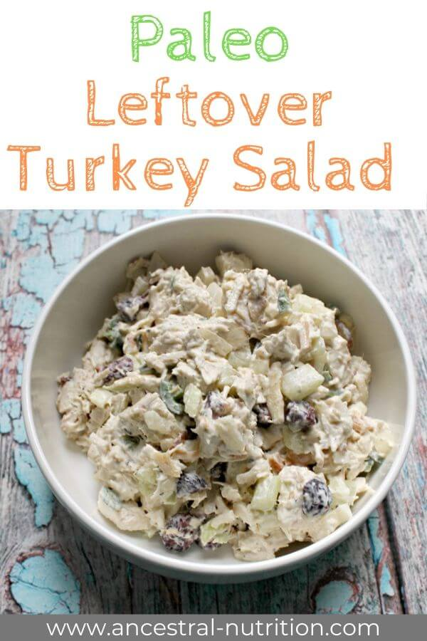 Sweet and Spicy Leftover Turkey Salad | An easy and healthy turkey salad recipe great for using up leftover turkey meat from Thanksgiving! Ideal as a filling for lettuce wraps or a protein-rich sandwich filling. Also great for clean eating meal prepping. Made with homemade avocado oil mayo, it's also gluten-free and paleo!#salad #turkeysalad #turkeyrecipes #thanksgiving #glutenfree