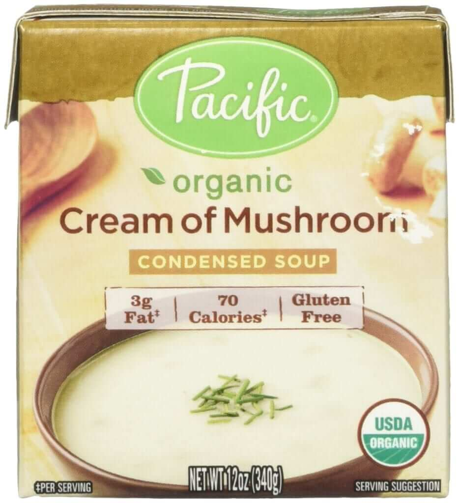 a pack of organic cream of mushroom soup