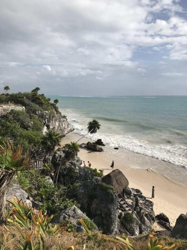 Tulum Paradise Beach on a sunny day