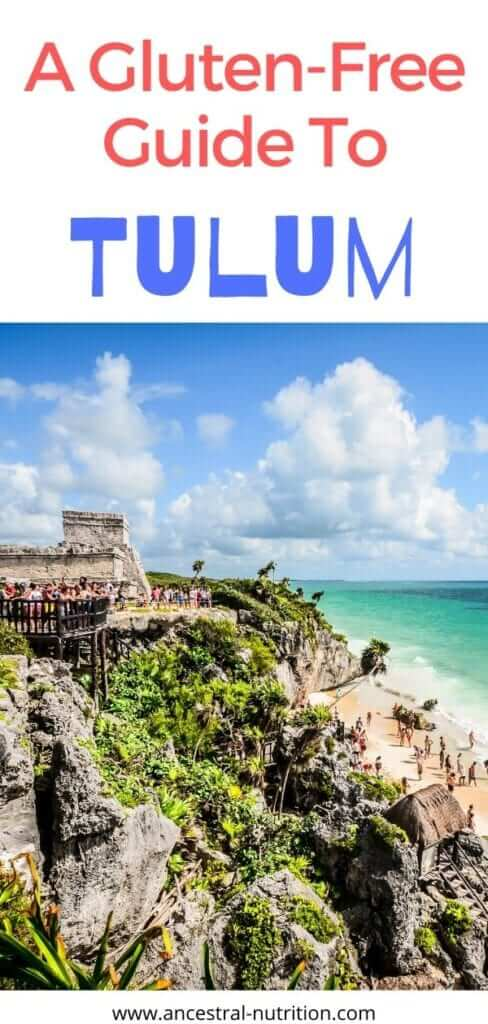The best Gluten-free Guide To Traveling to Tulum as a family with small kids! Planning a family trip to the Mayan Riviera in Yucatan, Mexico with your small children? AWESOME! Read this post for tips on accommodation and activities  and learn about the best gluten-free restaurant options in the bohemian beach town #glutenfreelife #tulum #beachvacation #familyvacation #traveltips