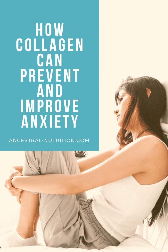 Did you know that collagen provides natural anxiety relief? Find out how collagen can improve your symptoms of anxiety! #anxiety #collagen #naturalremedies #anxietyrelief