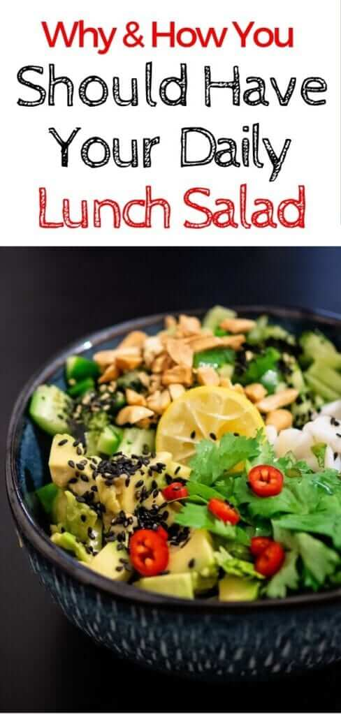 Is eating a salad for lunch everyday healthy? Here's the low down on lunch salads plus healthy lunch salad ideas that are quick and easy to make ahead. #lunchsalad #mealprep #diet #weightloss #nutrition