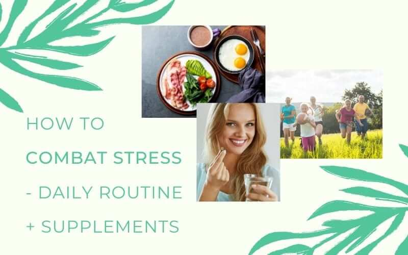 graphic how to combat stress with anti stress supplements